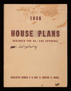 1956 house plans, Realistic Homes, Boston, Mass.