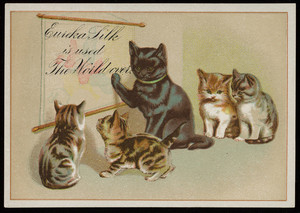 Trade card for Eureka Silk, Eureka Silk Mfg. Co., Canton, Mass., undated