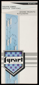 Fyrart Corp., storefronts, kitchens, theatre lobbies, service stations, baths, Cincinnati, Ohio