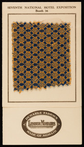 Sample for Lesher Mohairs, Lesher, Whitman & Co., Inc., sole distributors of smooth mohairs, 881-887 Broadway, New York City, New York, 1921