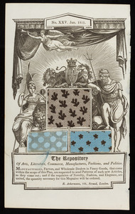 """Page from """"The repository of arts, literature, commerce, manufactures, fashions and politics,"""" printed for R. Ackermann, London, No. 25, January 1811"""