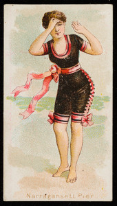 Narragansett Pier, cigarette card, Wm. S. Kimball & Co's Cigarettes, Rochester, New York, undated