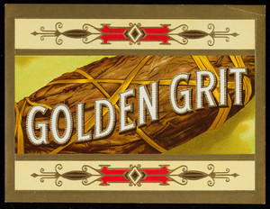 Label for Golden Grit, cigars, location unknown, undated