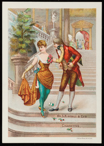 Cigarette card for Wm. S. Kimball & Co's Cigarettes, Rochester, New York, undated