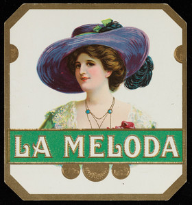 Label for La Meloda, cigars, Landfield & Steele makers, location unknown, undated