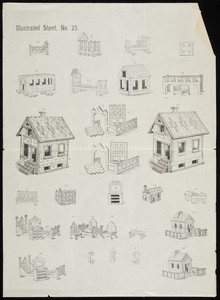 Illustrated sheet no. 23, toy house instruction sheet, location unknown, undated