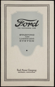 Ford starting and lighting system, Ford Motor Company, Detroit, Michigan, 1919