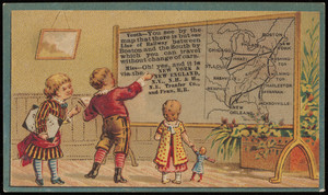 Trade card for the New York & New England Rail Road, 322 Washington Street, Boston, Mass., undated