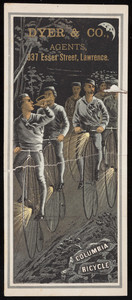 Trade card for the Columbia Bicycle, Pope Manufacturing Company, Hartford, Connecticut, undated
