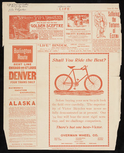 Advertisement for Victor Bicycles, Overman Wheel Co., Boston, Mass., June 28, 1894