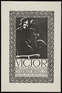 Advertisement for Victor Bicycles, Overman Wheel Co., New York, Boston, undated