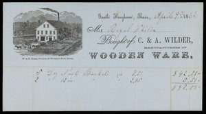 Billhead for C.& A. Wilder, manufacturers of wooden ware, South Hingham, Mass., dated April 9, 1863