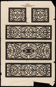 Design No. 10, published by the Sorrento Wood Carving Co., 5 Temple Place, Boston, Mass., undated