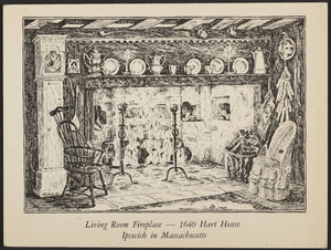 Trade card for 1640 Hart House, Route 1, Ipswich, Mass., undated