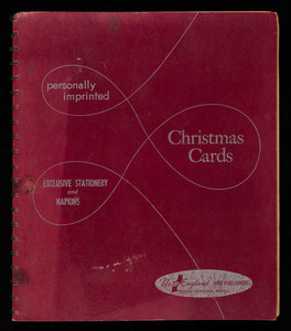 Personally imprinted Christmas cards, exclusive stationery and naptkins, New England Art Publishers, Inc., North Abington, Mass., 1954