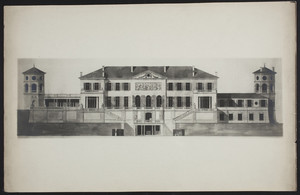 La Leopolda, rear elevation architectural drawing, 1929