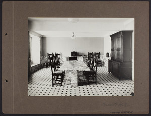 La Leopolda, servants' hall, 1939