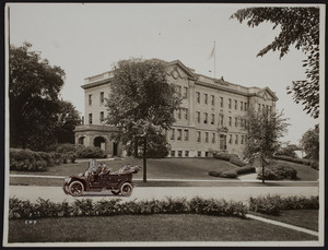 Exterior view of the high school, Winchester, Mass. undated