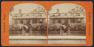 Stereograph of Wadsworth House, Cambridge, Mass., 1876