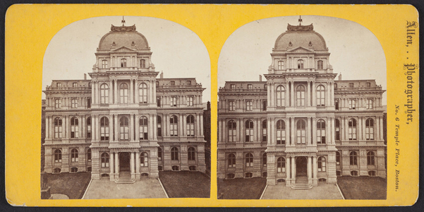 Stereograph of Old City Hall, School Street, Boston, Mass., undated