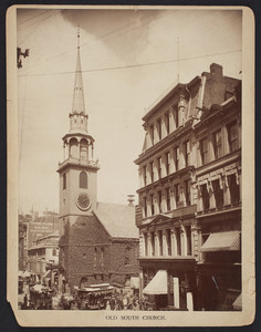 Old South Church, Washington Street, Moulton Photograph Company, 50 Bromfield Street, Boston, Mass., undated