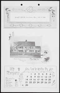Colonial landmarks of the old Bay State, calendar 1897, Souvenir Publising Co., Lynn, Mass., 1897