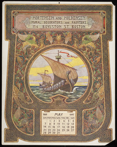 Calendar, Mortensen and Holdensen, mural decorators and painters, 154 Boylston Street, Boston, Mass., 1905