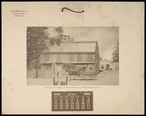 Calendar, The Pepper Co., Inc., confectionery, Peabody, Mass., 1909