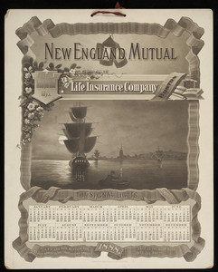 Calendar for New England Mutual Life Insurance Co., Post Office Square, Boston, Mass., 1888
