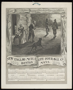 Calendars for New England Mutual Life Insurance Co., Post Office Square, Boston, Mass., 1890