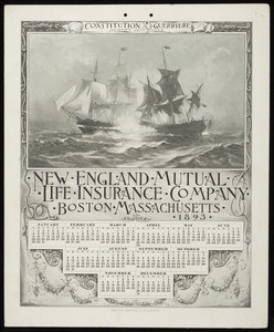 Calendar for New England Mutual Life Insurance Co., Post Office Square, Boston, Mass., 1893