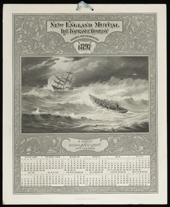 Calendars for New England Mutual Life Insurance Co., Post Office Square, Boston, Mass., 1897