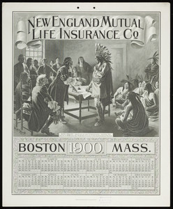 Calendar for New England Mutual Life Insurance Co., Post Office Square, Boston, Mass., 1900