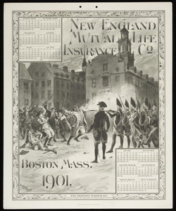 Calendar for New England Mutual Life Insurance Co., Post Office Square, Boston, Mass., 1901