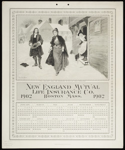 Calendar for New England Mutual Life Insurance Co., Post Office Square, Boston, Mass., 1902
