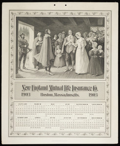 Calendar for New England Mutual Life Insurance Co., Post Office Square, Boston, Mass., 1903