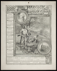 Calendar for John Hancock Mutual Life Insurance Company, Boston, Mass., 1888