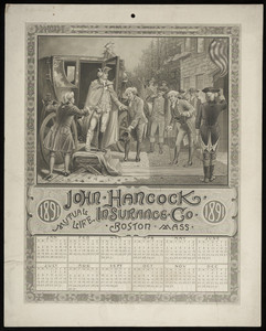 Calendar for John Hancock Mutual Life Insurance Company, Boston, Mass., 1891