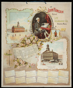 Calendar for John Hancock Mutual Life Insurance Company, Boston, Mass., 1897
