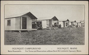 Ogunquit Campground, Ogunquit, Maine, 1920s