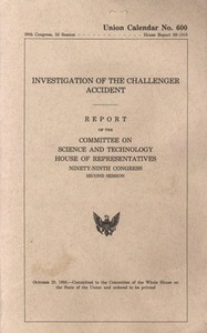 Investigation of the Challenger Accident, Report of the