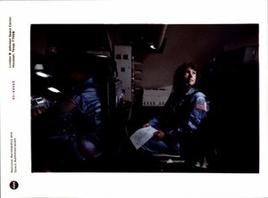 Christa McAuliffe in the Shuttle Mission Simulator