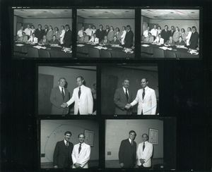 Contact sheets of photographs from a Suffolk University Alumni Board meeting