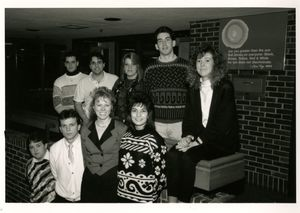 Members of Suffolk University Accounting Club, 1990