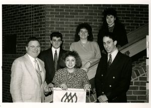 Members of Suffolk University's American Marketing Association, 1990