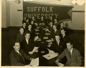 Members of Suffolk University's Student Council, 1938-1939