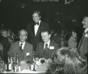 Suffolk University Dean David J. Sargent (Law) and Law Professors Herbert Lemelman, and Thomas F. Lambert at Law Review Dinner