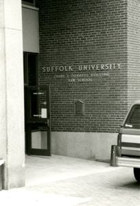 Exterior of Suffolk University's Donahue Building (41 Temple Street)
