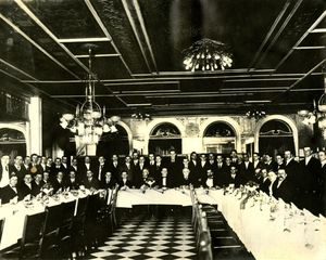 Suffolk University Law School's third annual law school banquet, 1909