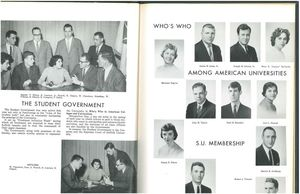 Student Government section from the 1961 issue of Suffolk University's Beacon/Lex yearbook